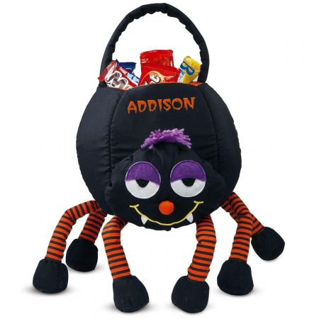 Spider Personalized Halloween Treat Bag