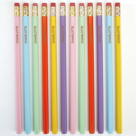 #2 Personalized Hardwood Pencils - Pastel