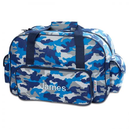 "Blue Camo Personalized 18"" Small Duffel Bag"