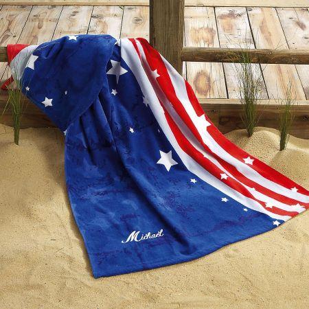 Patriotic Beach Towel