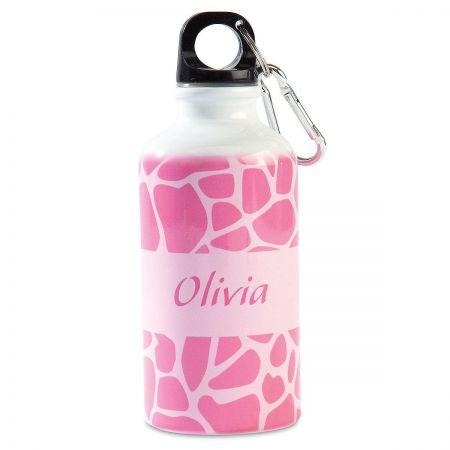 Pink Giraffe Water Bottle