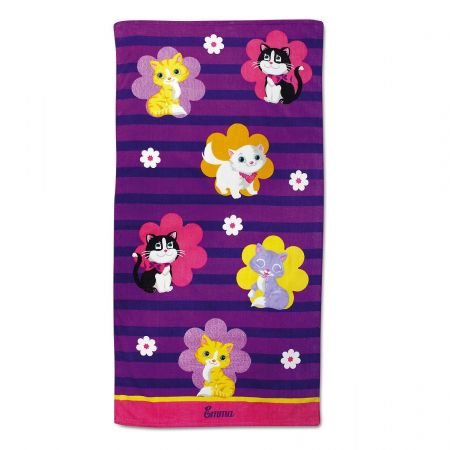 Kitten Cuties Personalized Towel