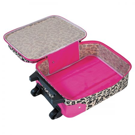 Leopard Spots Personalized Rolling Luggage