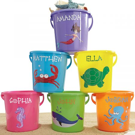 Fun In The Sand Plastic Bucket Lillian Vernon