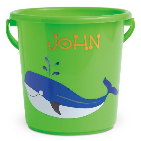 Fun-in-the-Sand Plastic Bucket-Green-Z814520A