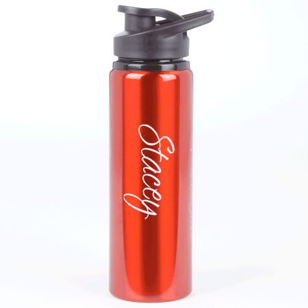 Personalized Anodized Aluminium Water Bottle - Red