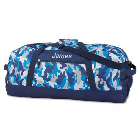 "Blue Camo Personalized 30"" Duffel Bag"