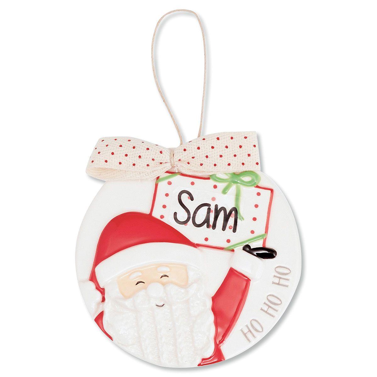 Santa Porcelain Personalized Ornament