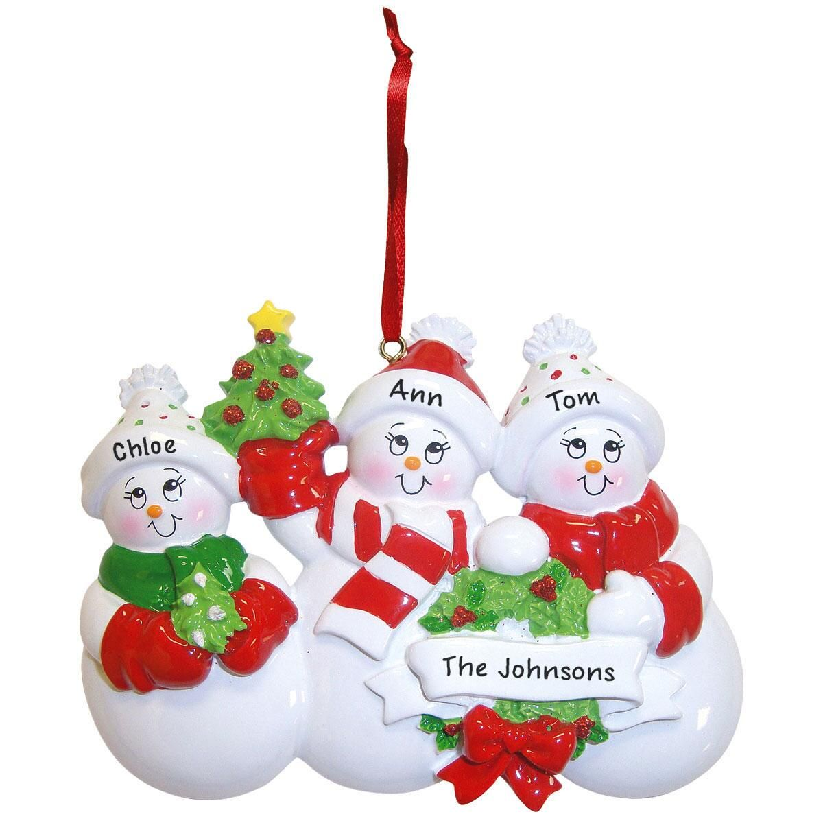 Glittered Snowman Ornaments