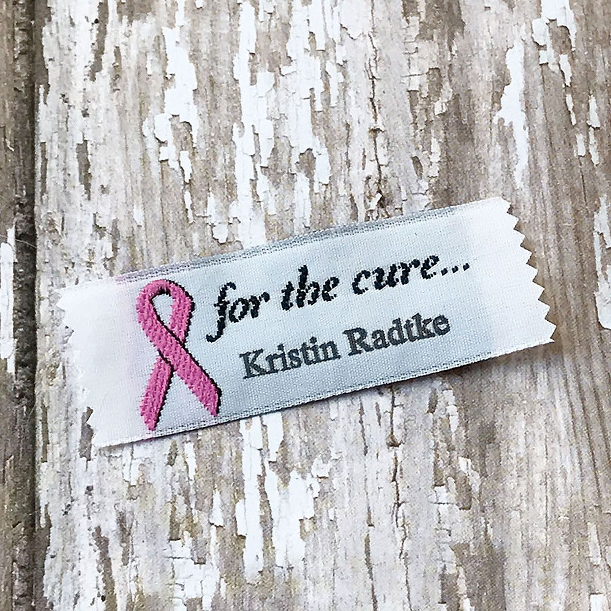 for the cure...Sewing Labels