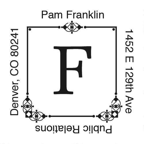 Executive Square Address Stamp - Black