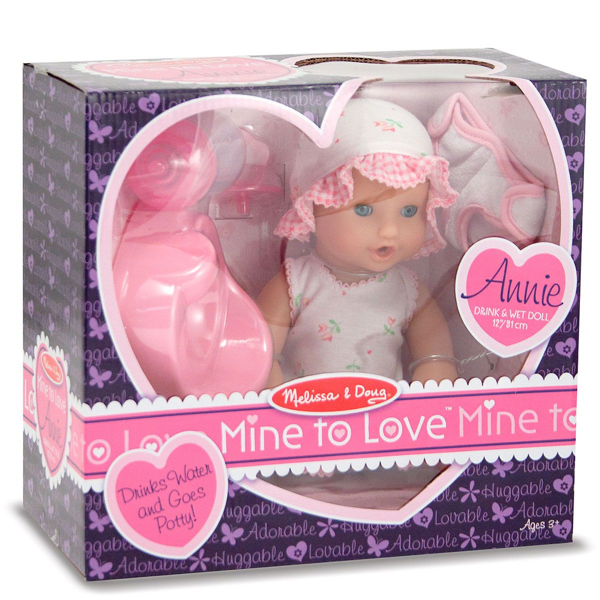 Mine to Love™ Annie Drink-and-Wet Doll by Melissa & Doug®