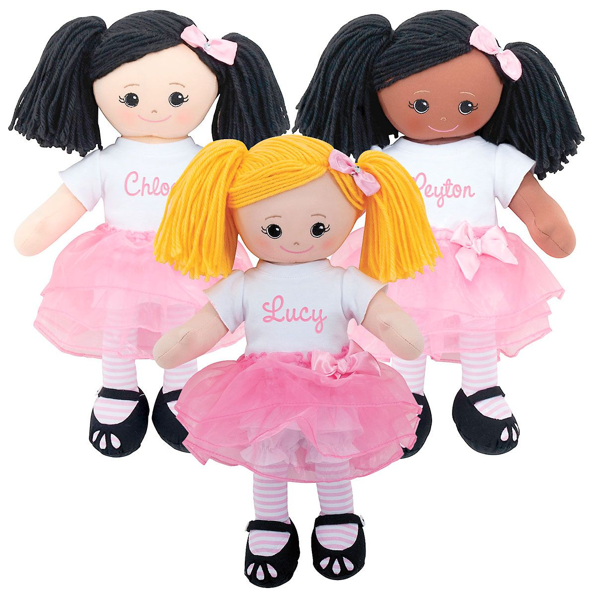 Personalized Ballerina Rag Doll with Tutu
