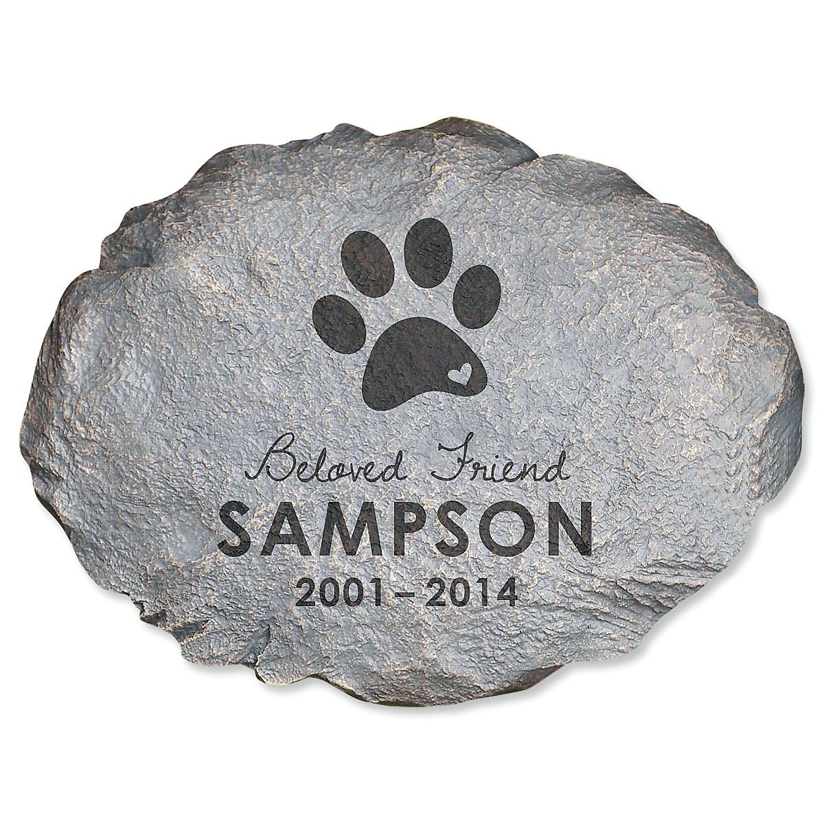 Beloved Friend Personalized Pet Memorial Stone