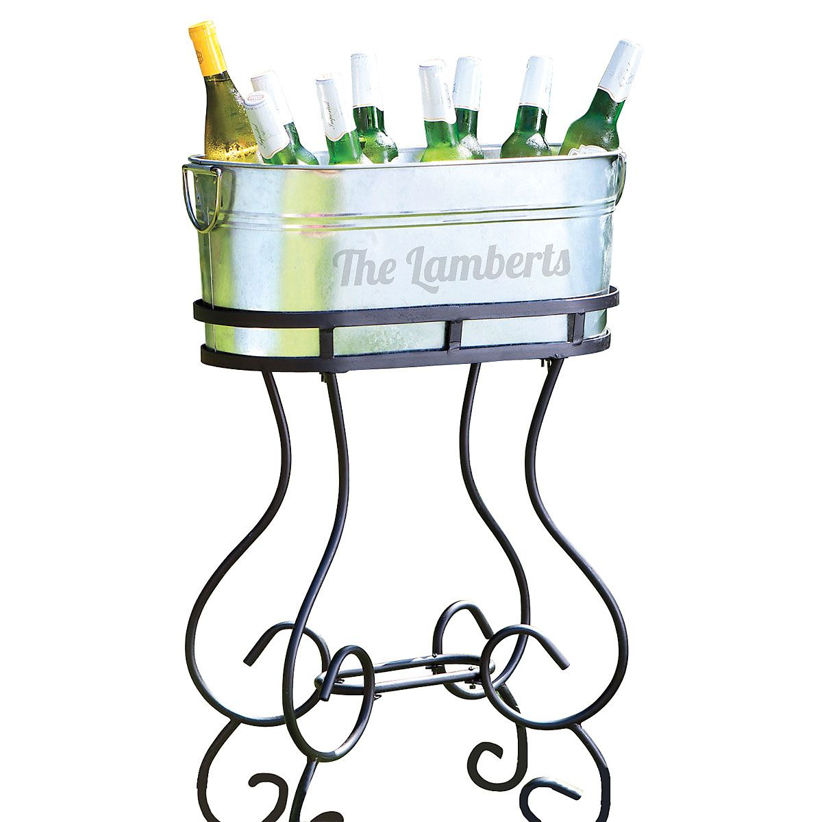 Personalized Beverage Tub with Stand