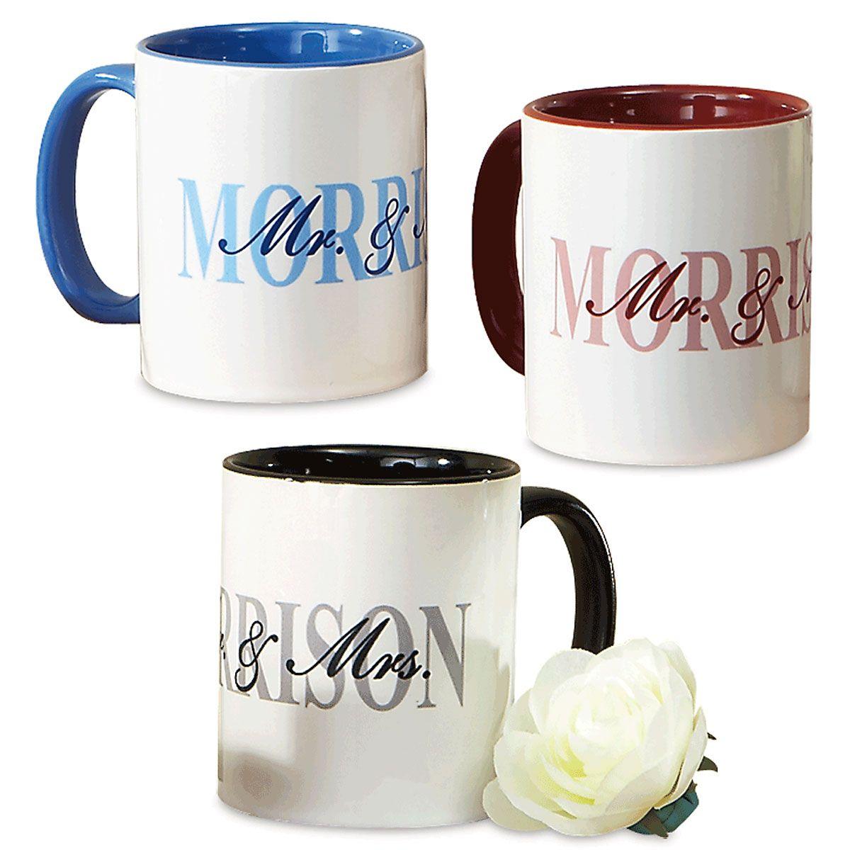 Mr. and Mrs. Personalized Mug