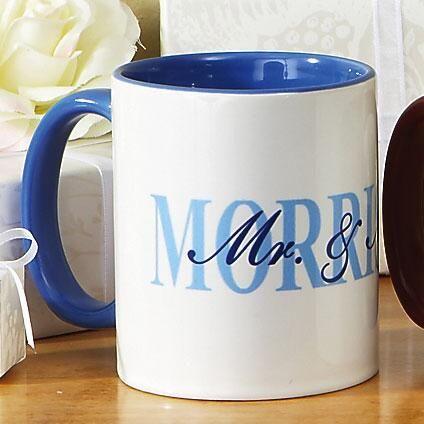 Mr. and Mrs. Personalized Mugs - 2 Mug Set
