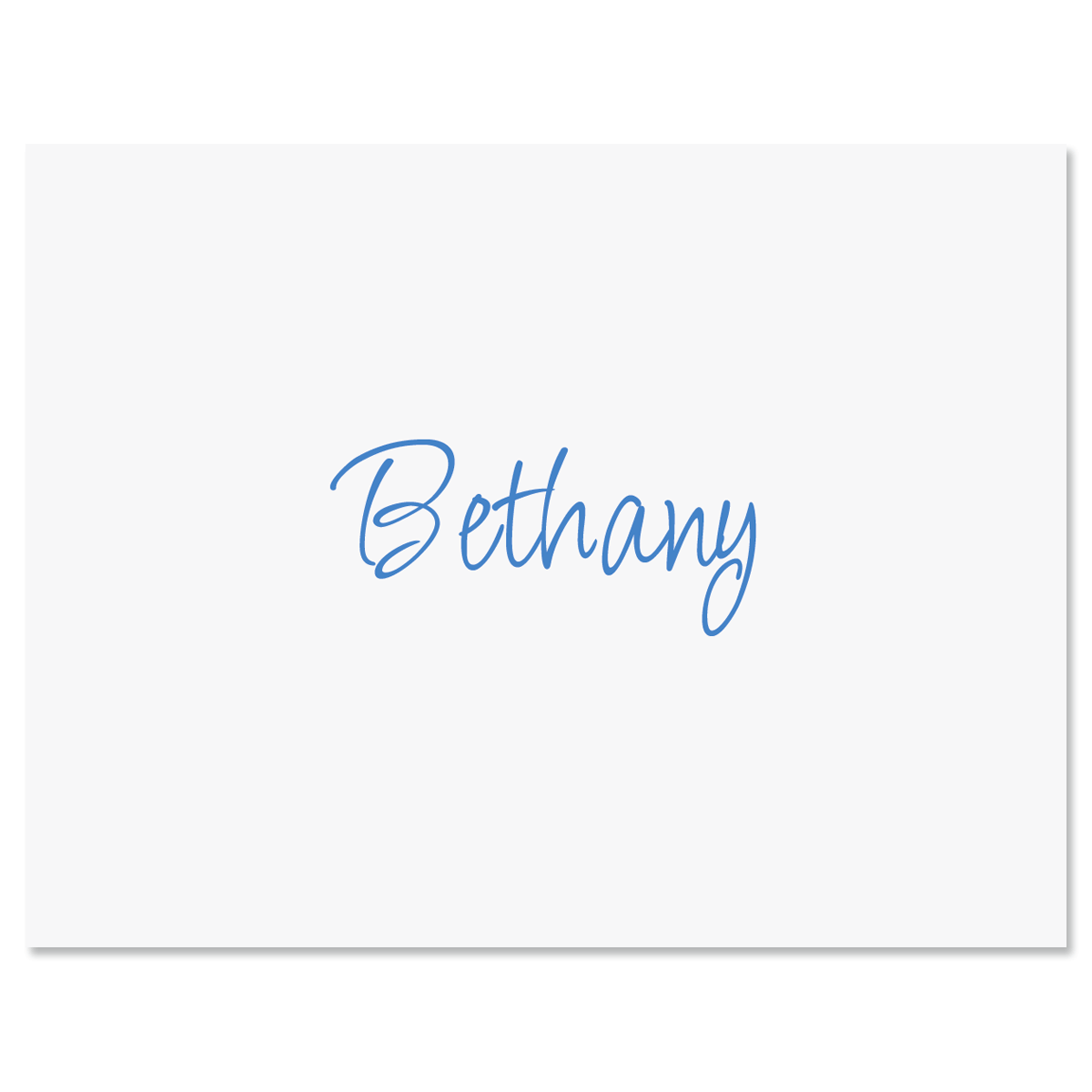 Casual Note Cards-Blue-604080B