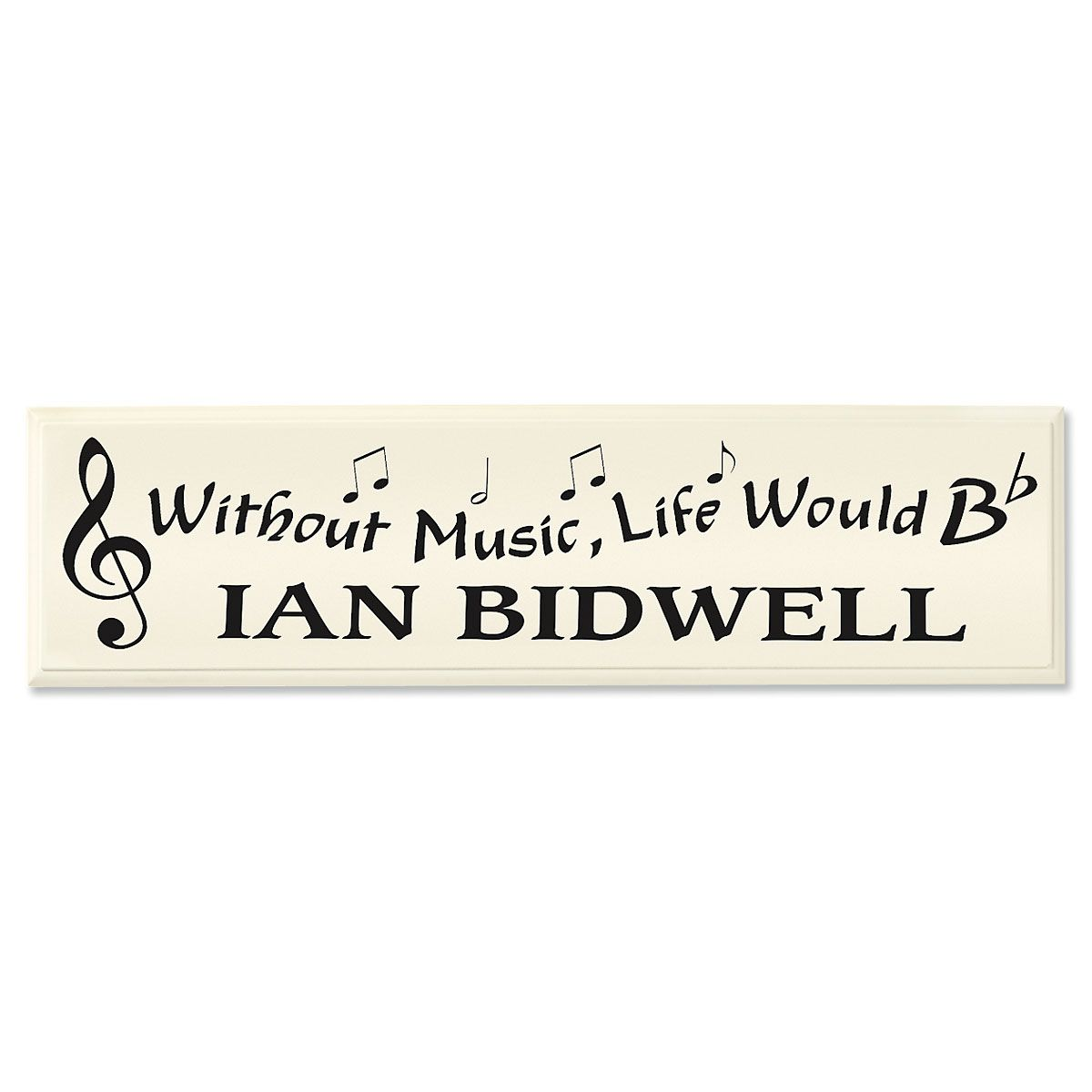 Personalized Music Plaque