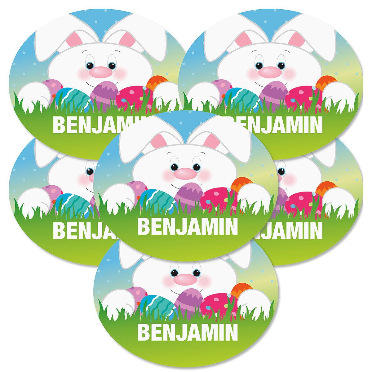 Personalized Oval Easter Stickers