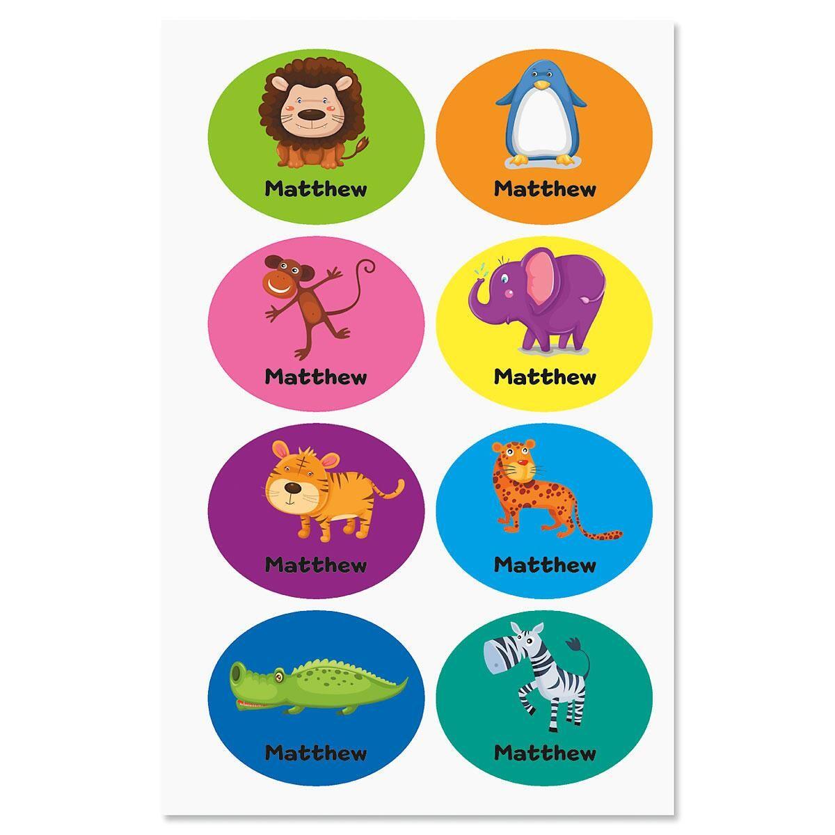 Playful Animal Labels for Kids