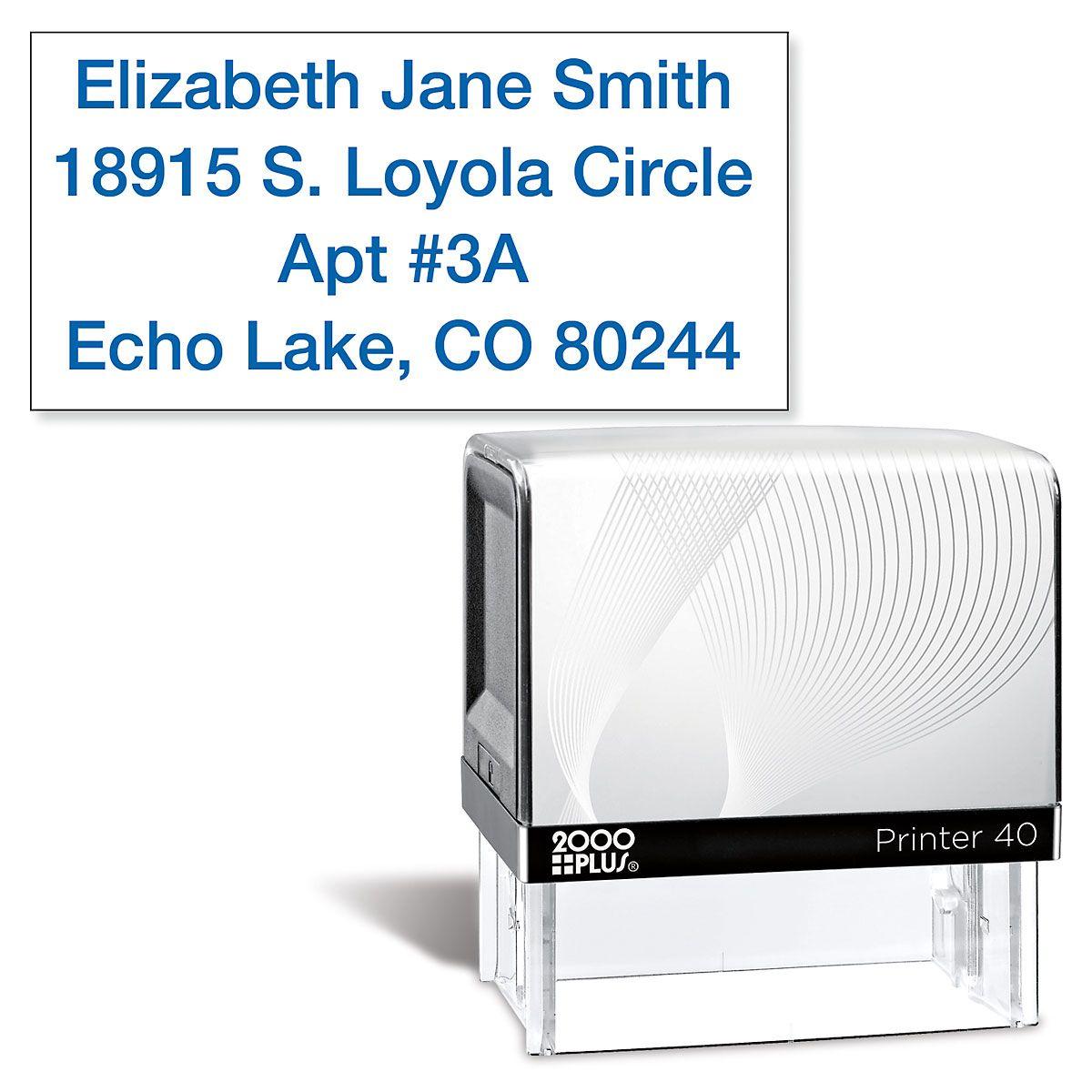 Standard Blue Self-Inking Address Stamp