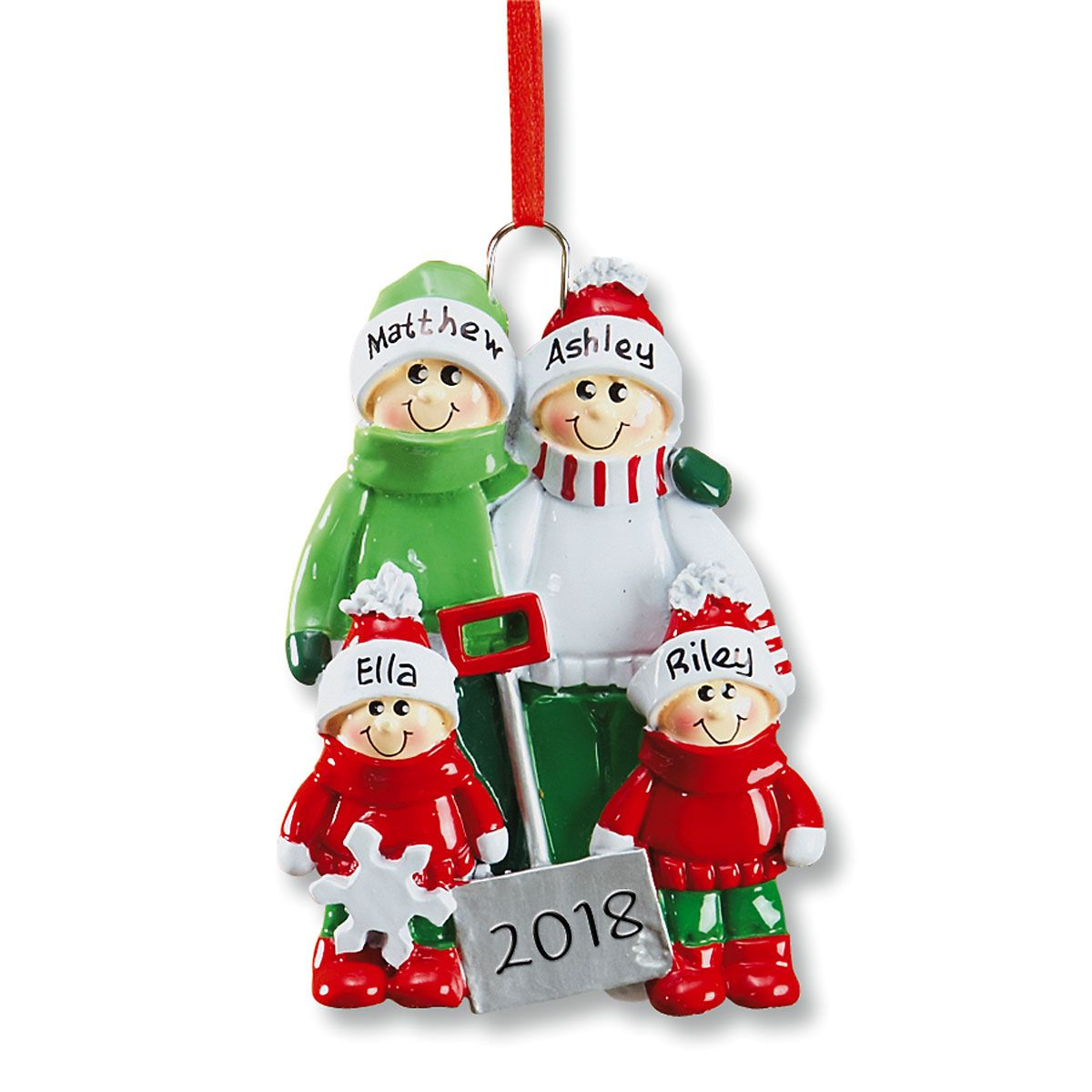 Holiday Snow Shovel Ornament-2 Children-607562B