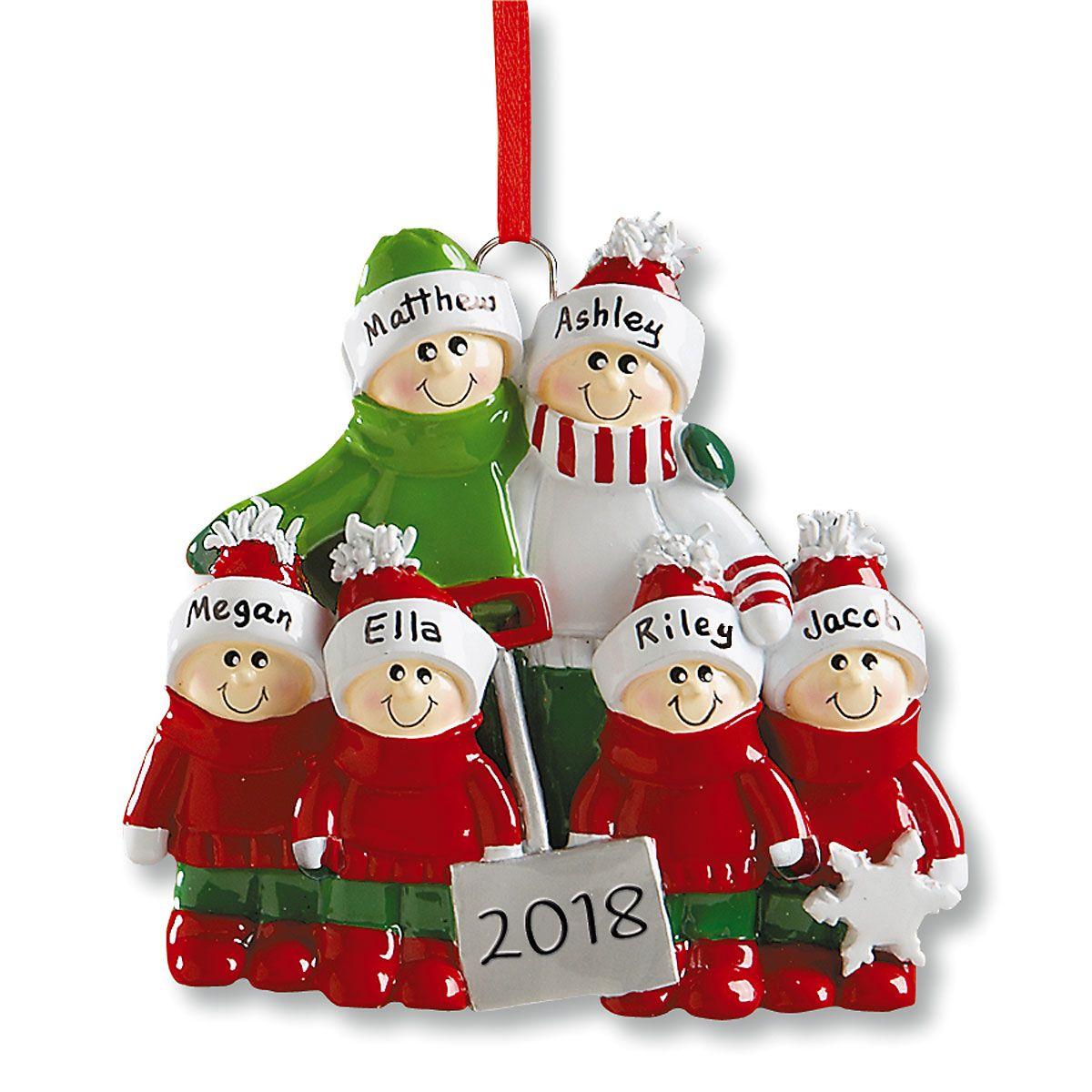Holiday Snow Shovel Ornament-4 Children-607562D