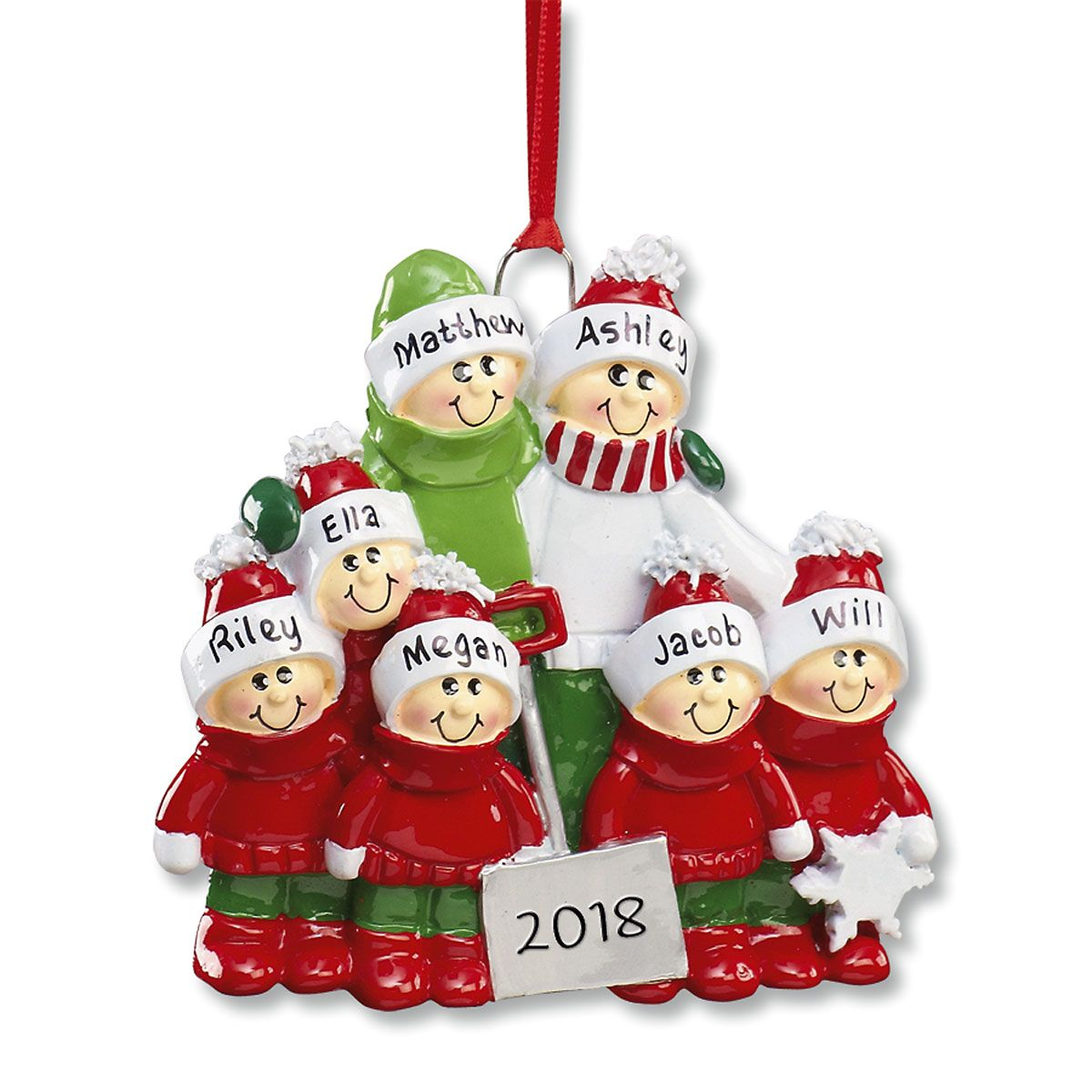 Holiday Snow Shovel Ornament-5 Children-607562E