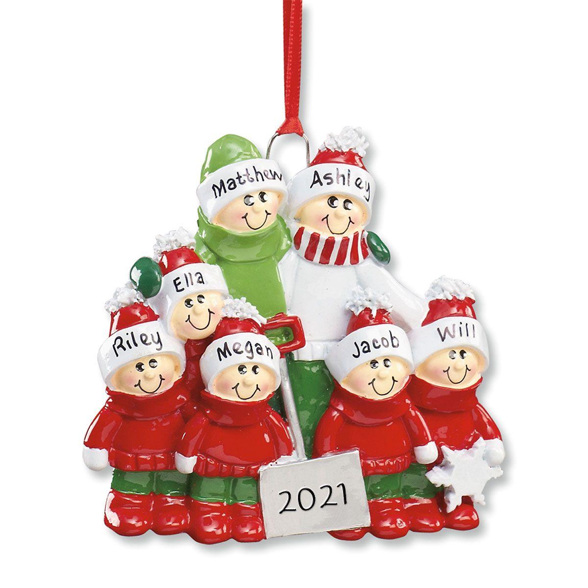 Holiday Snow Shovel Ornament-5 Children-607562E