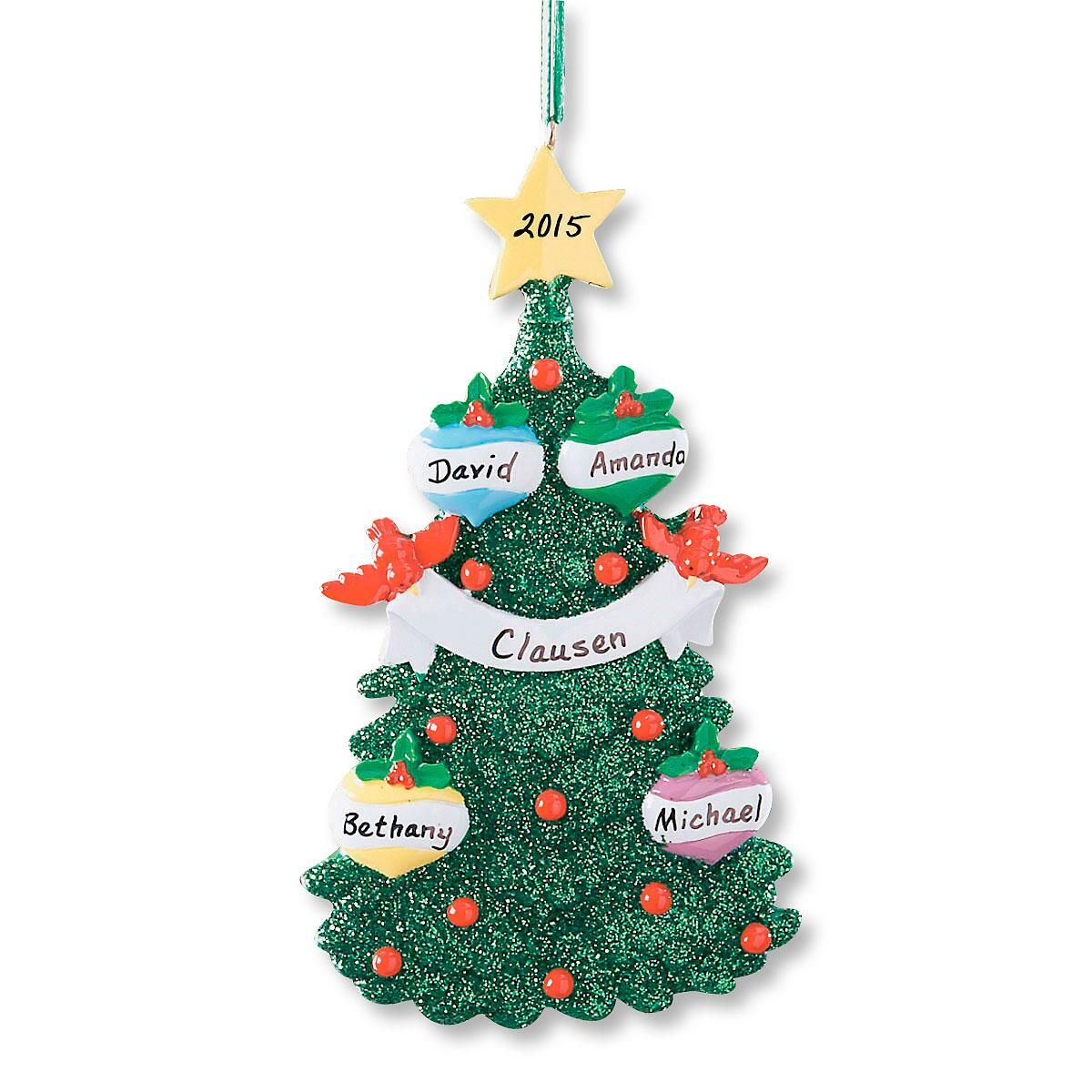 Glitter Tree Personalized Christmas Ornament