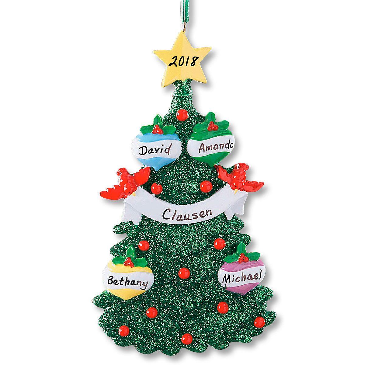 Glitter Tree Ornament-4 Names-607563B