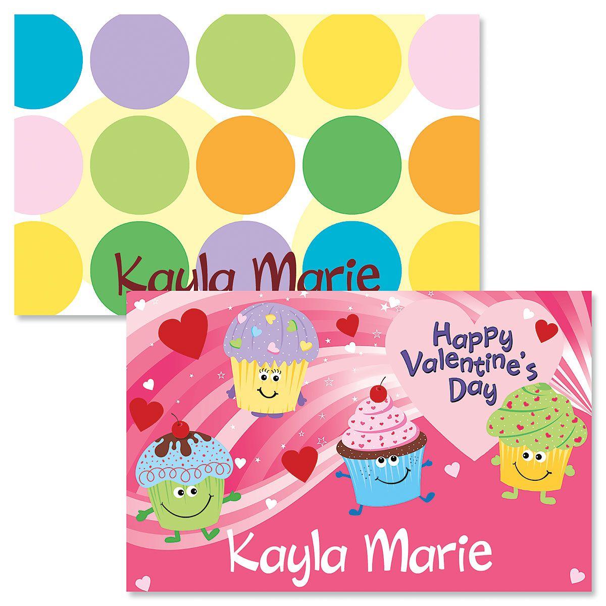 Cupcakes Valentine Placemat