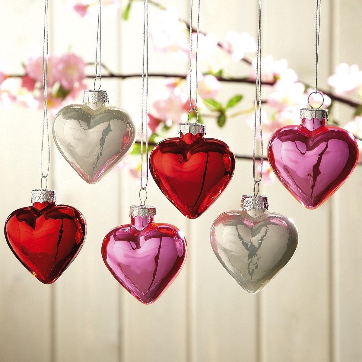 Shiny Hearts Ornaments