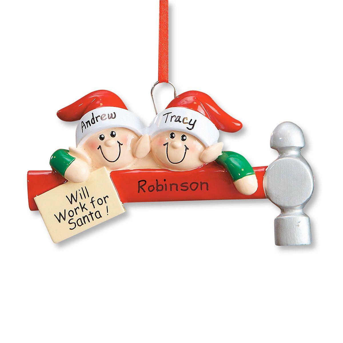 Elf Family Ornament-2 Names-608234A