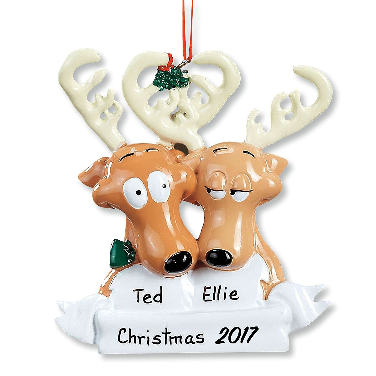 Reindeer Family Personalized Christmas Ornament