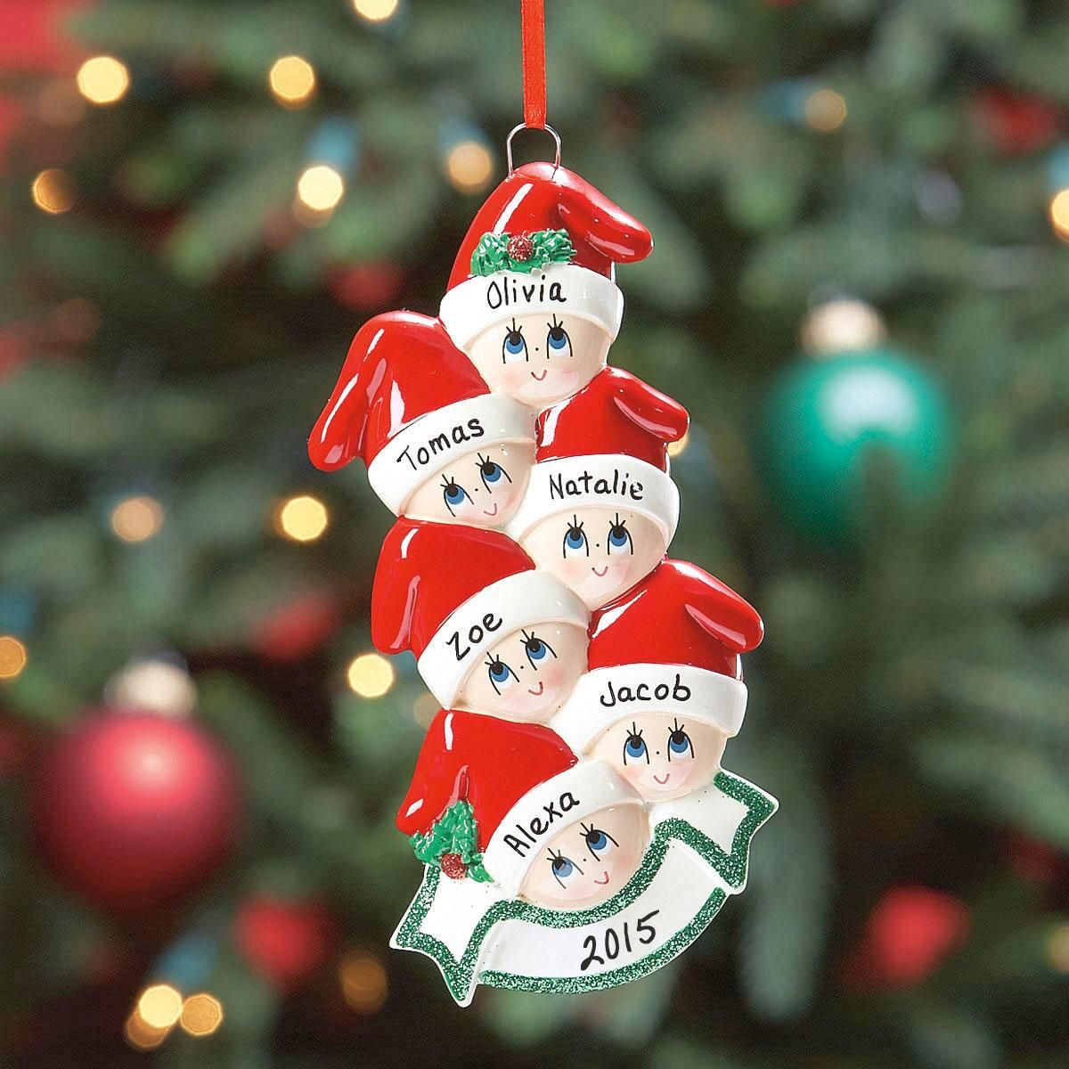Santa Cap Family Ornament