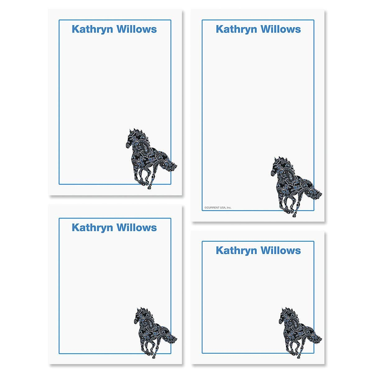 Horse Patterns Notepads