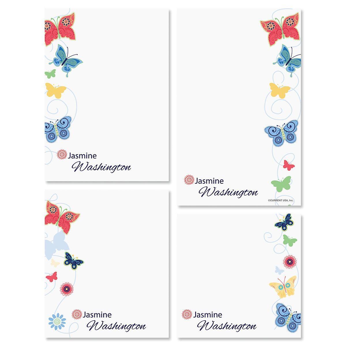 Delicate Butterflies Notepad Set