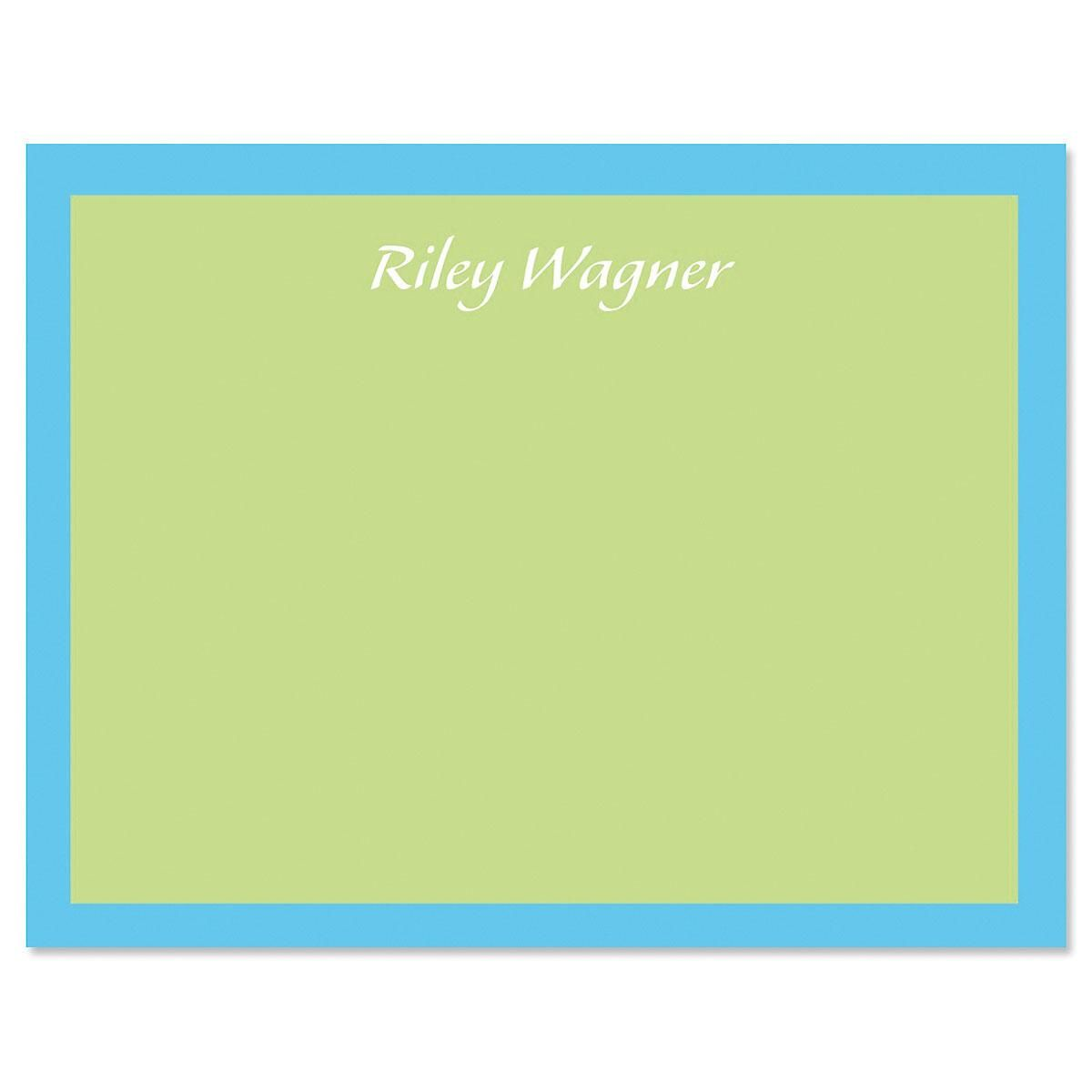 Bordered Hues Note Cards