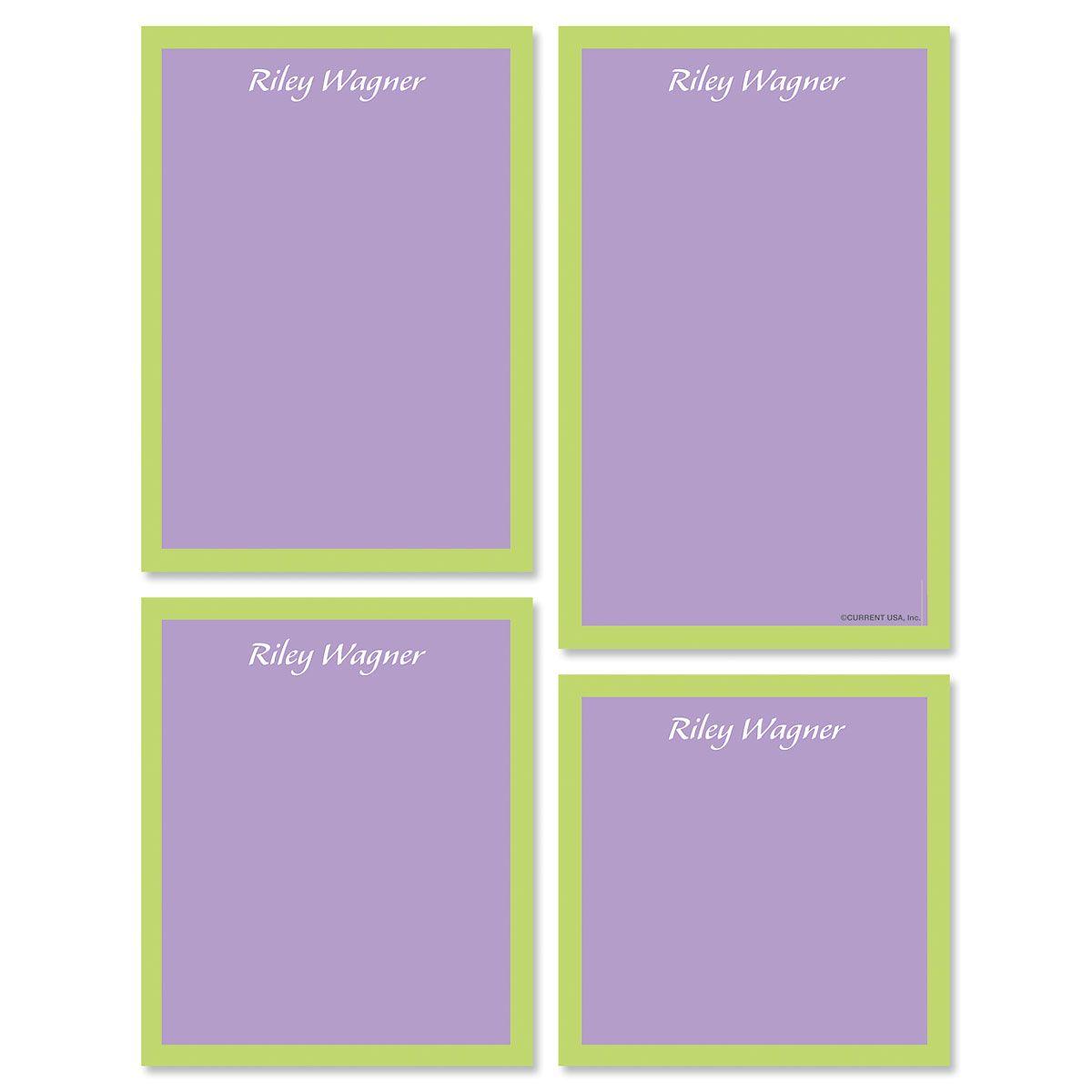 Bordered Hues Notepads-Purple-609260B