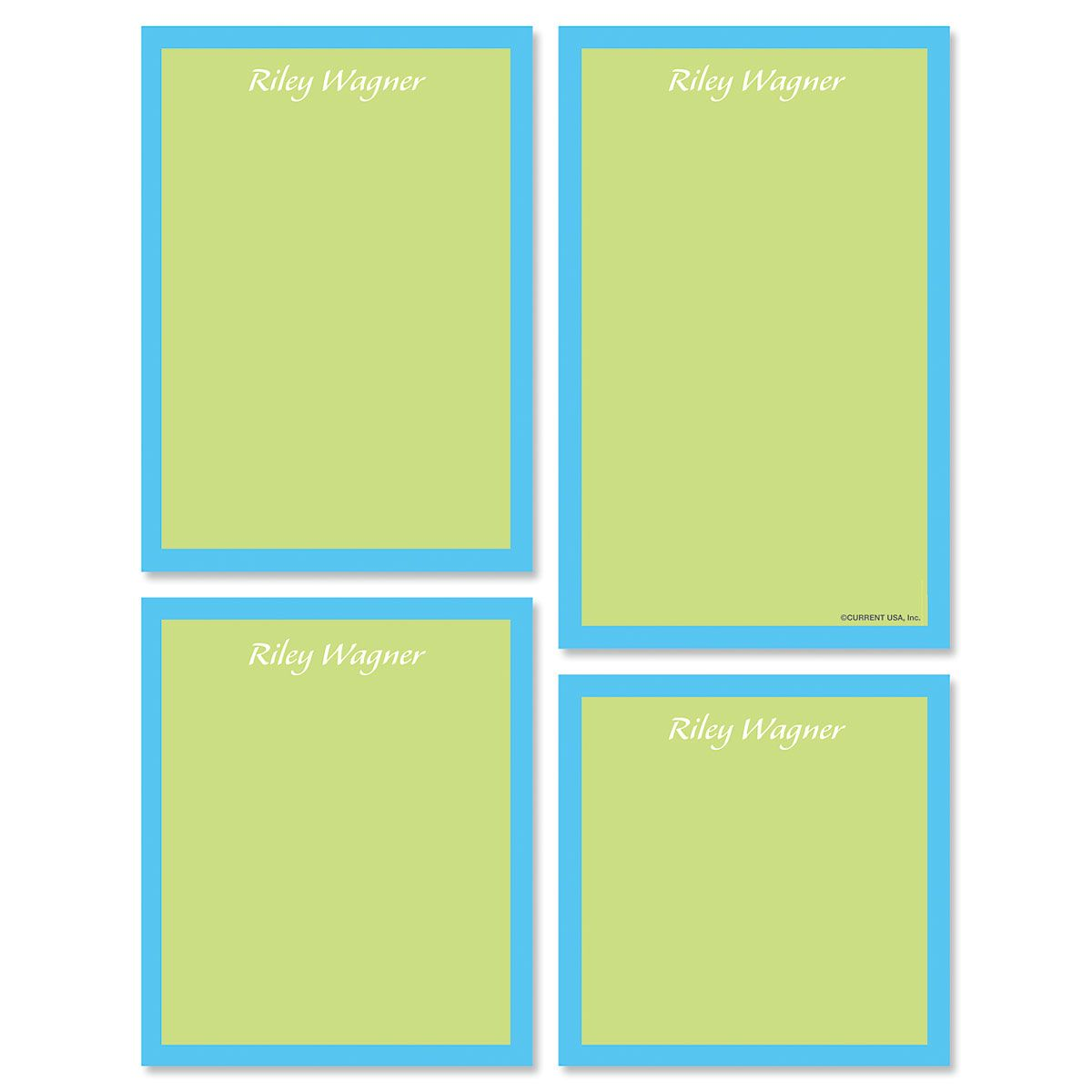 Bordered Hues Notepads-Green-609260C