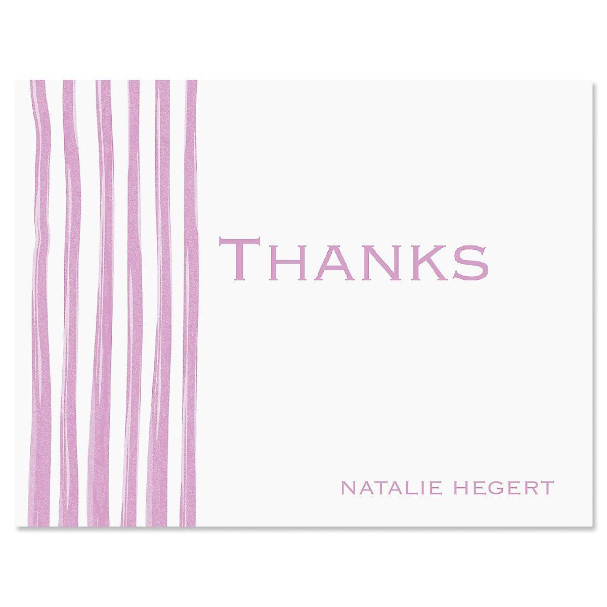 Sheer Delight Thank You Card-Lavender-609279A