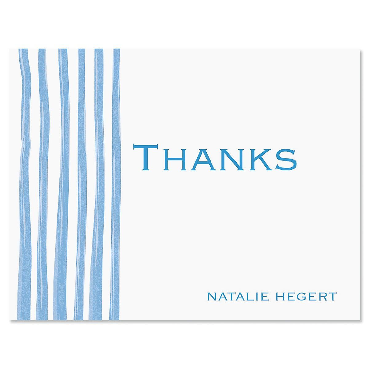 Sheer Delight Thank You Card-Blue-609279B