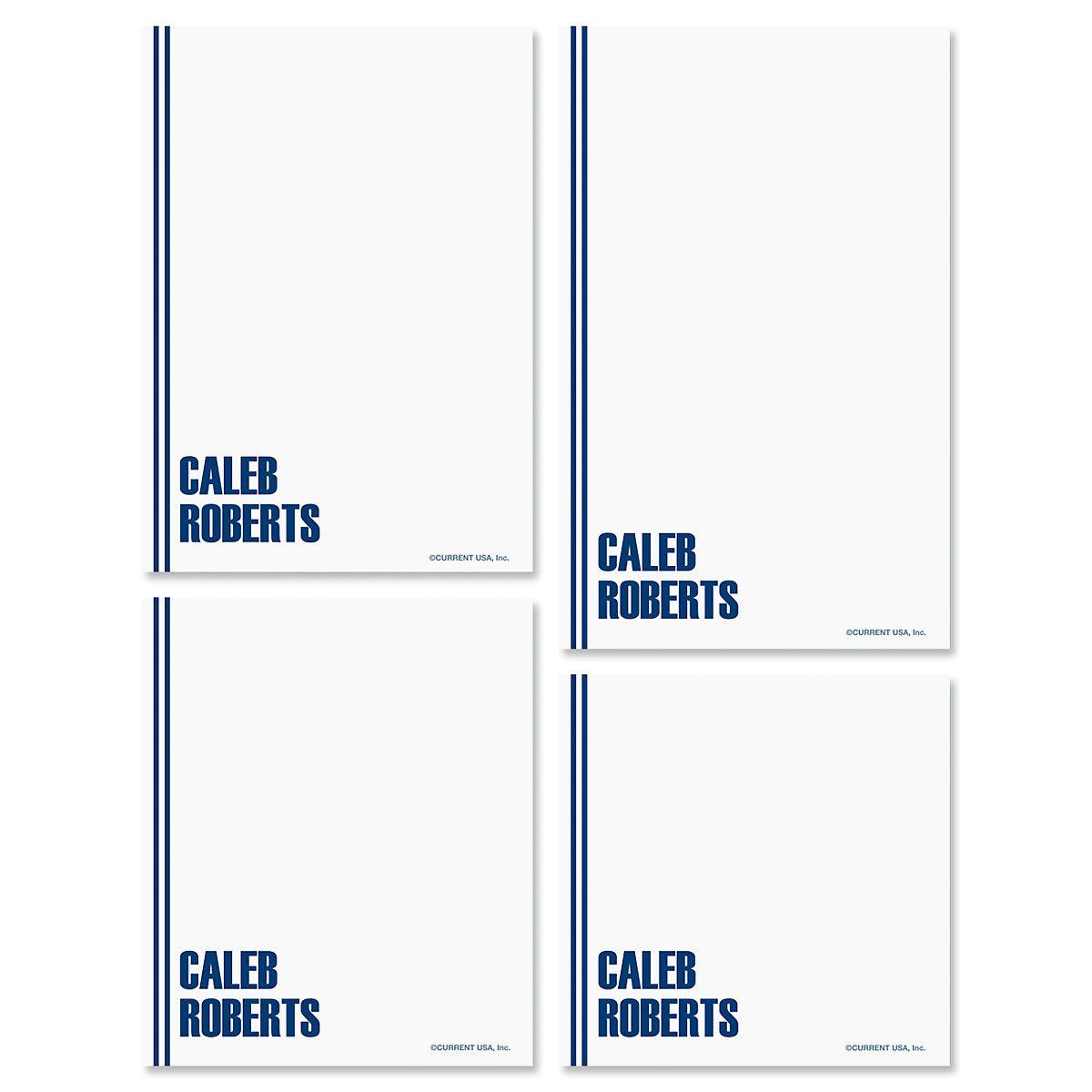 Stylin' Notepads-Dark-Blue-609286B