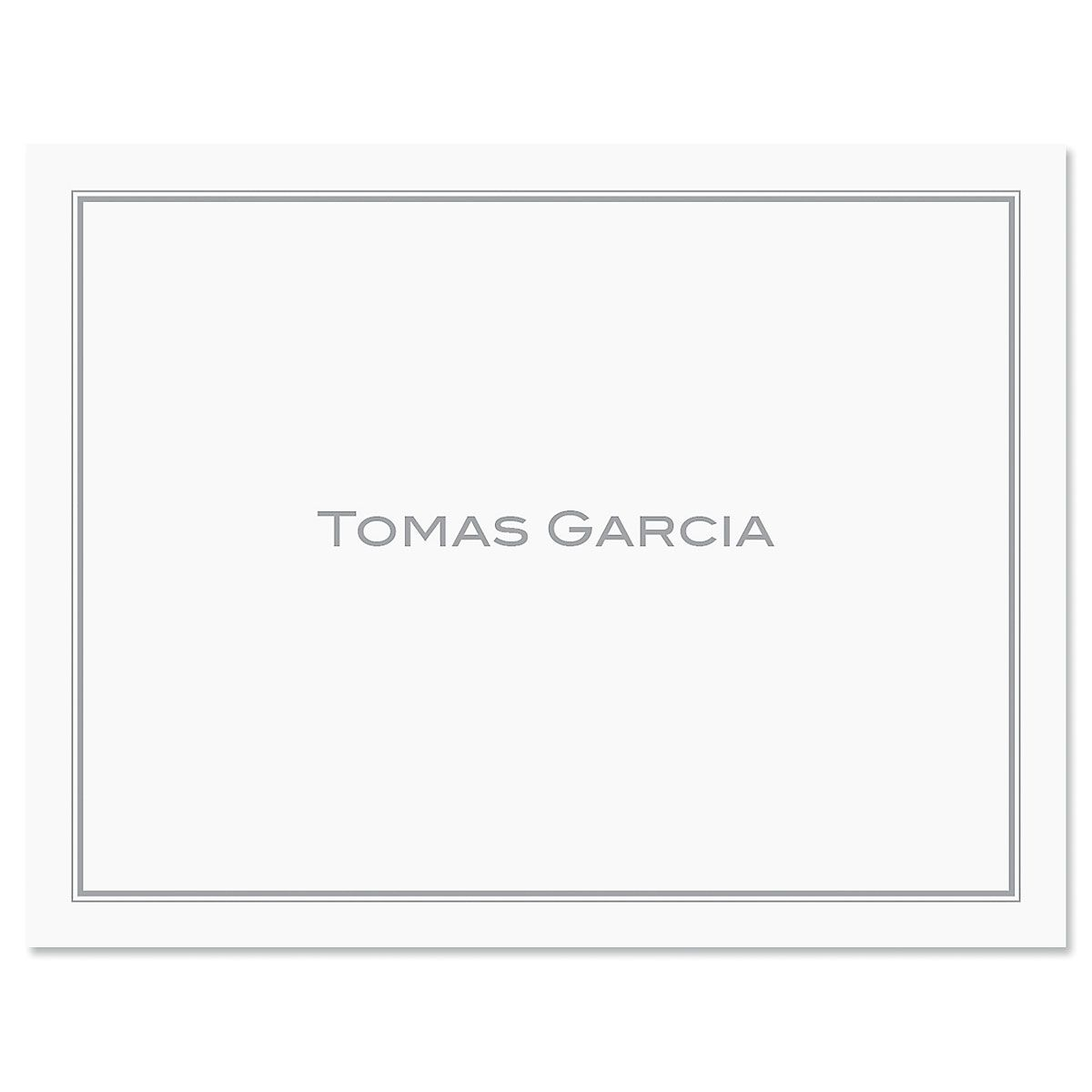 Refined Note Cards-Grey-609290C