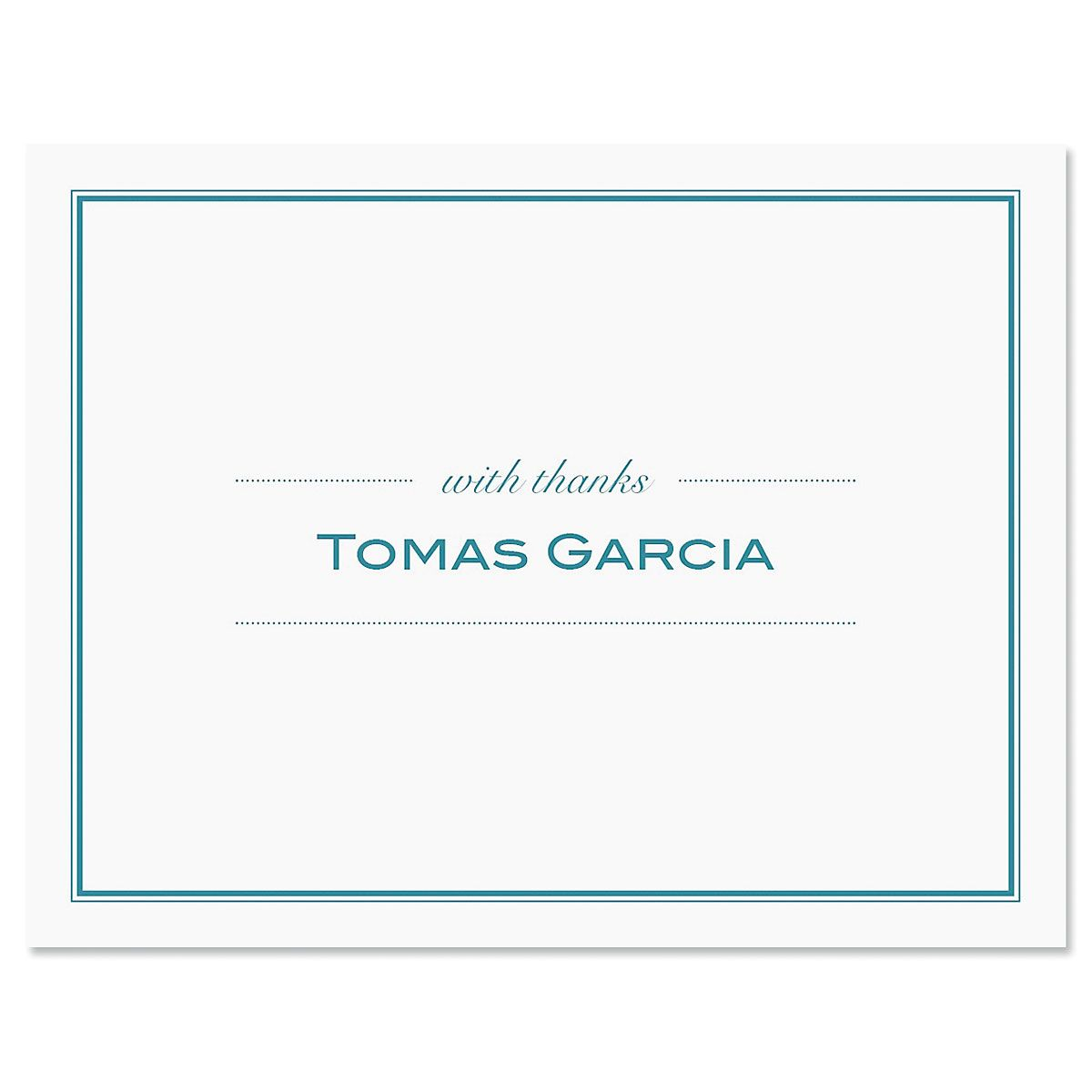 Refined Thank You Cards-Blue-609291A