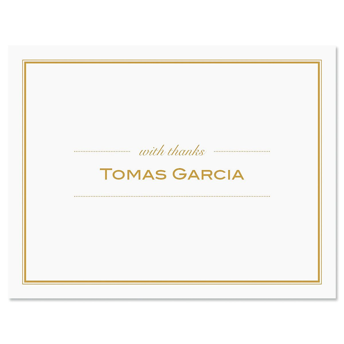 Refined Thank You Cards-Brown-609291B