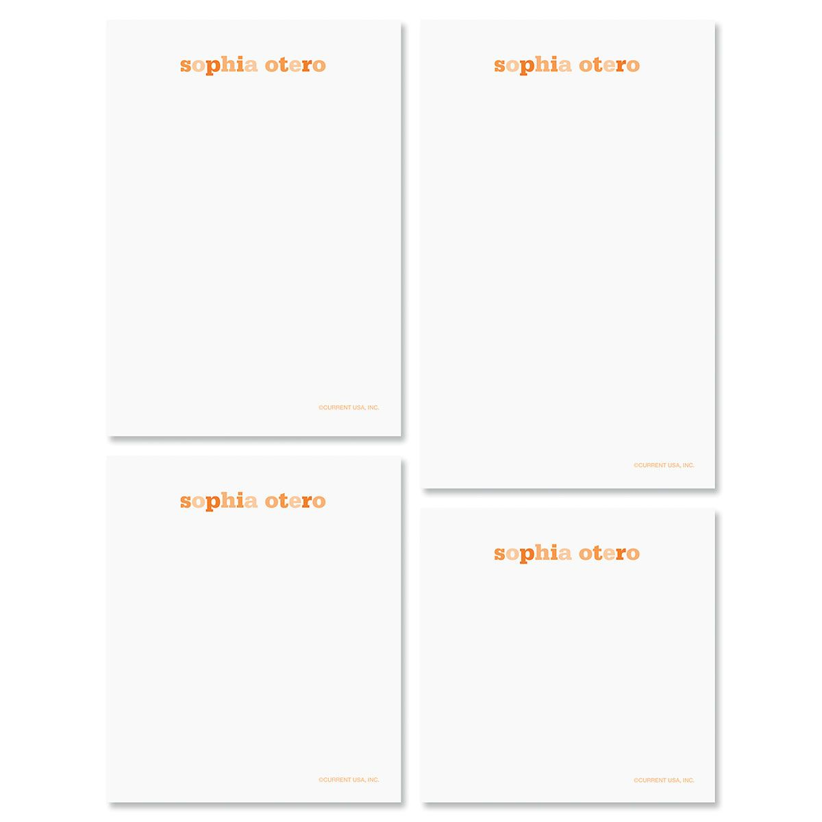 Color Wash Notepads-Tangerine-609300B