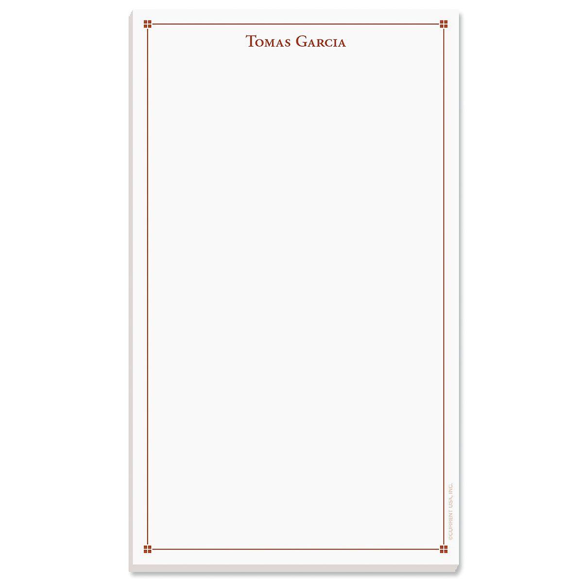 Atticus Notepad-Red-609314C